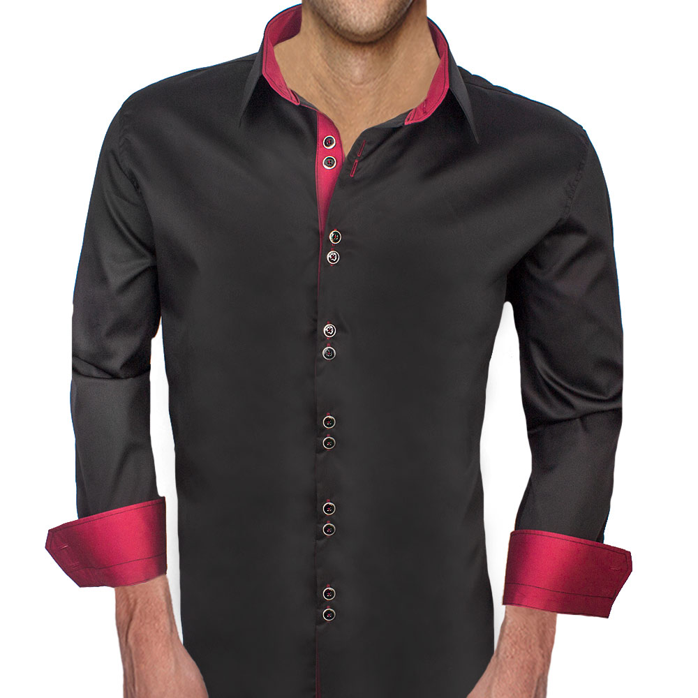 Black-and-Maroon-Dress-Shirts