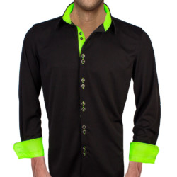 Black-and-Neon-Green-Dress-Shirts