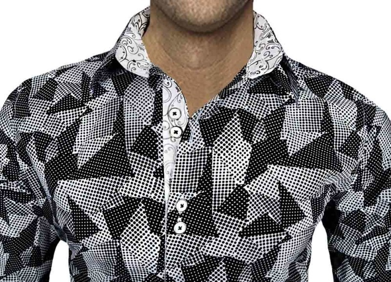 Black-and-White-Dress-Shirts