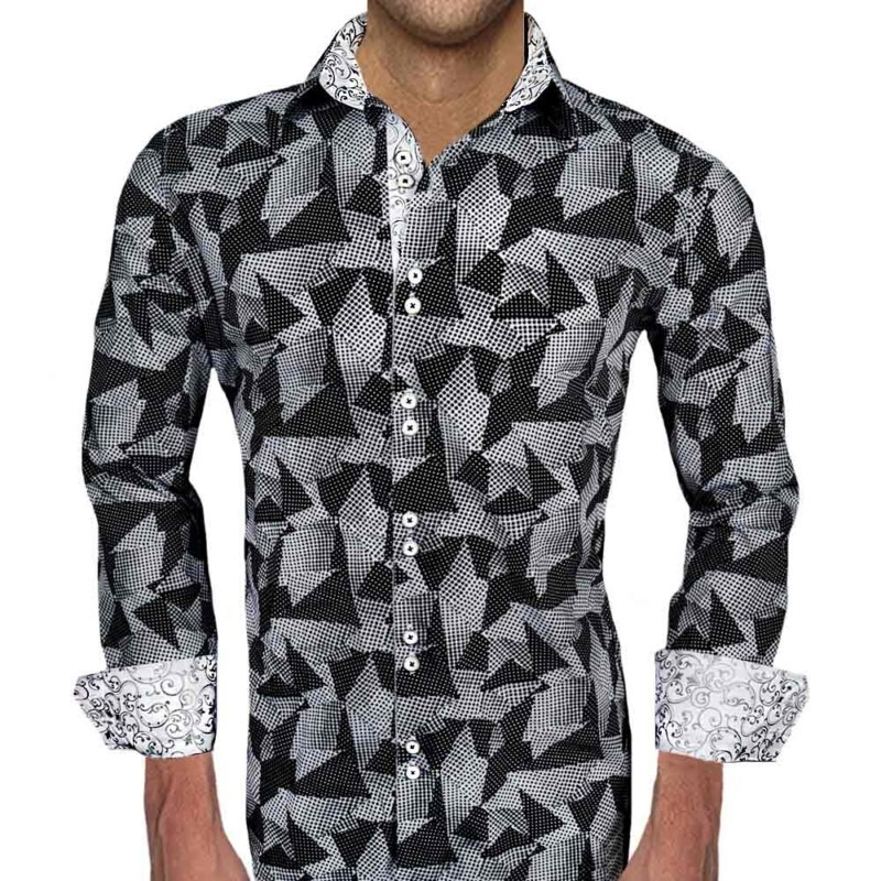 Black-with-white-accent-dress-shirts