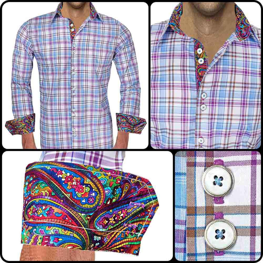 Bright Plaid Dress Shirts