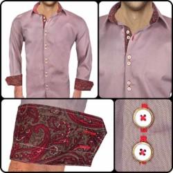 Brown-Red-Dress-Shirts