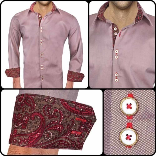 Brown-Red-Dress-Shirts