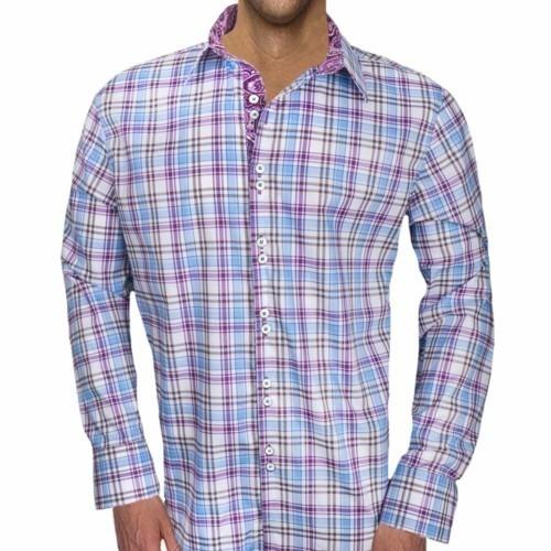 Plaid-Dress-Shirts-with-Paisley-Cuffs