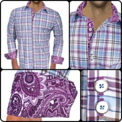 Plaid-with-Paisley-Cuff-Dress-Shirts