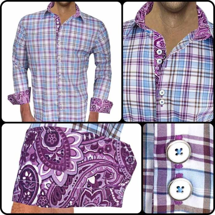 Plaid-with-Paisley-Cuff-Dress-Shirts