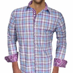 Purple-Plaid-and-Pasiely-Cuffs-Dress-Shirts
