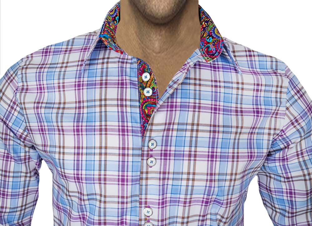 Purple-Plaid-with-Multi-Color-Shirts