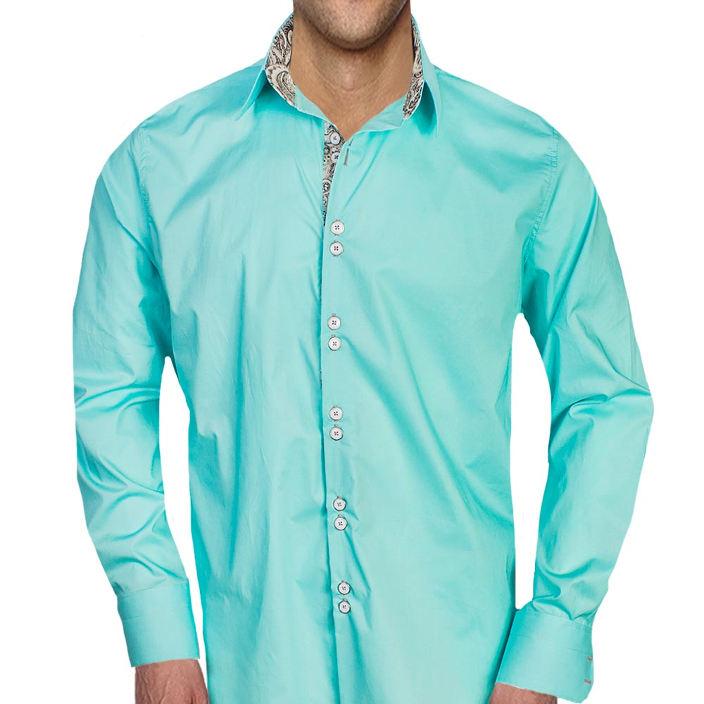 Teal-Black-Dress-Shirts