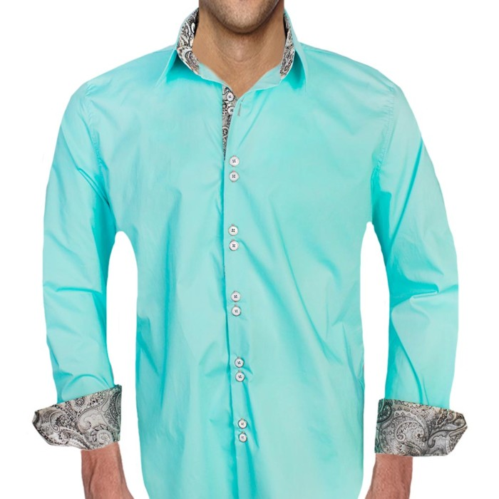 Teal-with-Black-Dress-Shirts