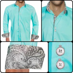Turquoise-Black-Dress-Shirts