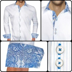 White-Blue-Stripe-Dress-Shirts