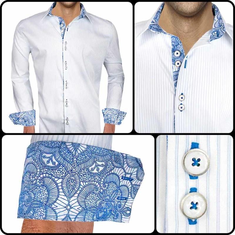 White-Blue-Stripe-Dress-Shirts