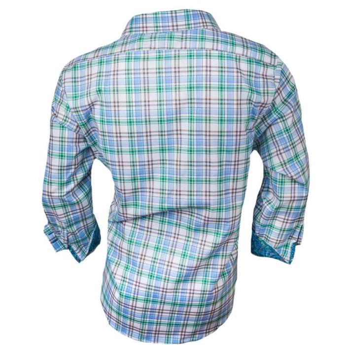 white-green-brown-plaid-dress-shirts