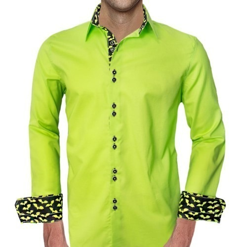 Lime-Green-Halloween-Dress-Shirts-
