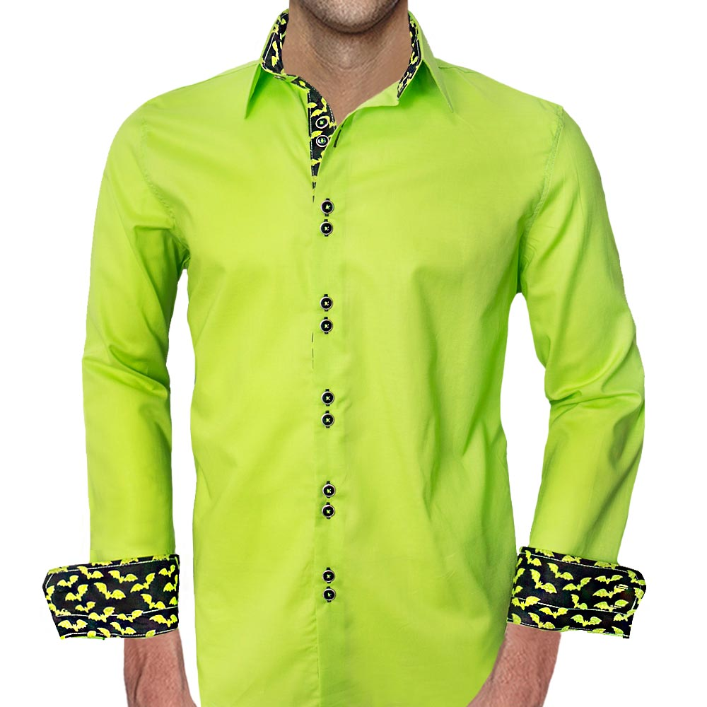 Lime-Green-Halloween-Dress-Shirts-
