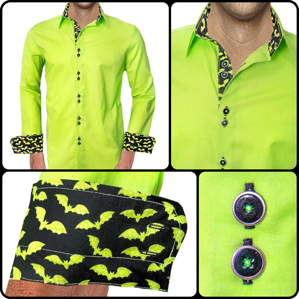 Lime Green Halloween Dress Shirt