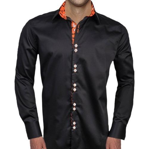 Mens-Black-Halloween-Dress-Shirts