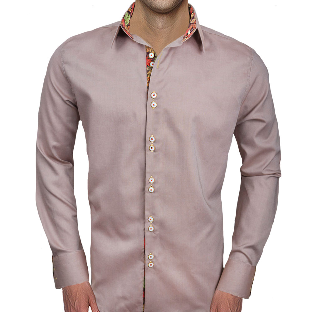Mens-Brown-Fall-Dress-Shirts