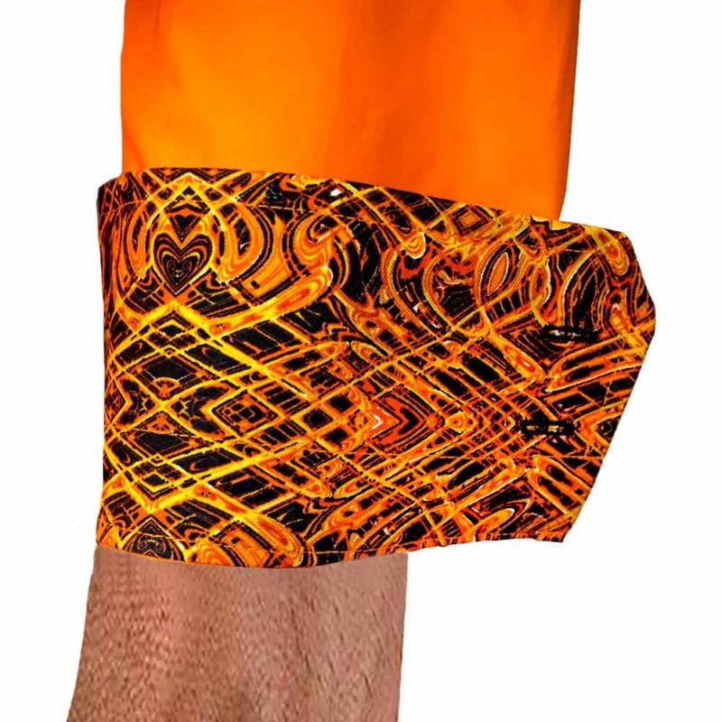 Orange-Dress-Shirt-with-Black-Cuffs
