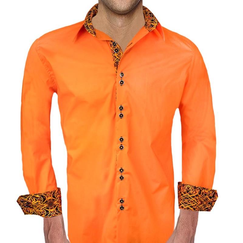 Orange-with-Black-Accent-Dress-Shirts