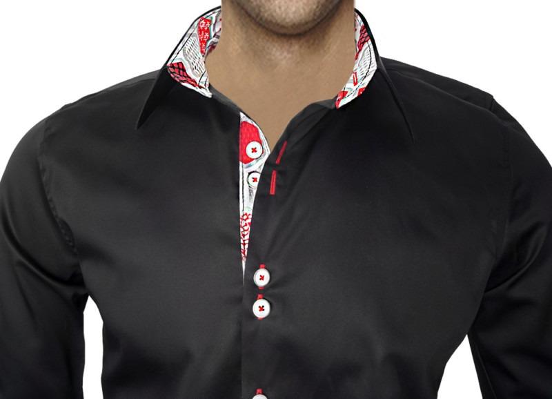 Black-Christmas-Accent-Dress-Shirts
