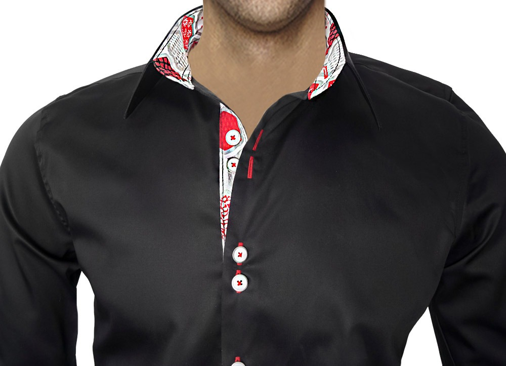 Black-Christmas-Accent-Dress-Shirts
