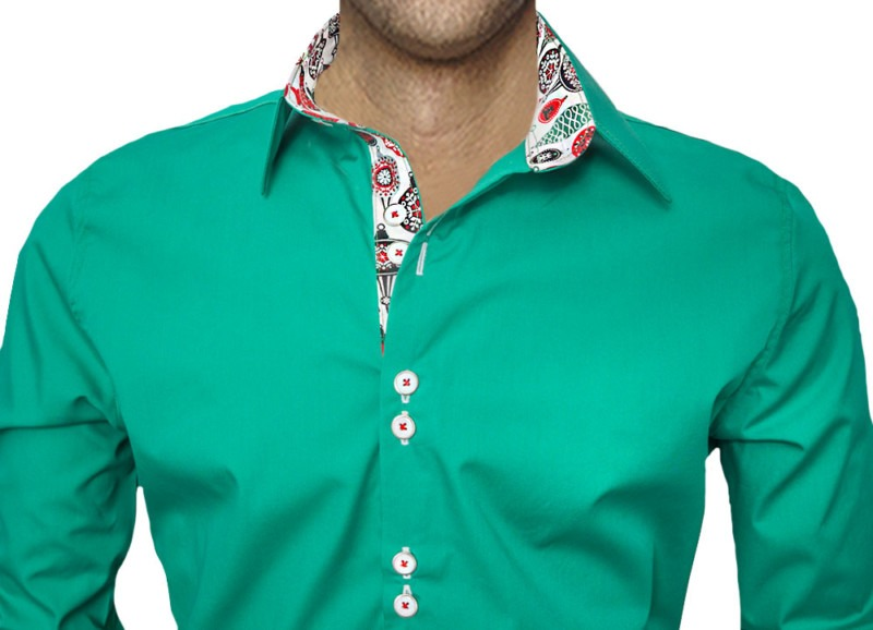 Green-Christmas-Accent-Dress-Shirts