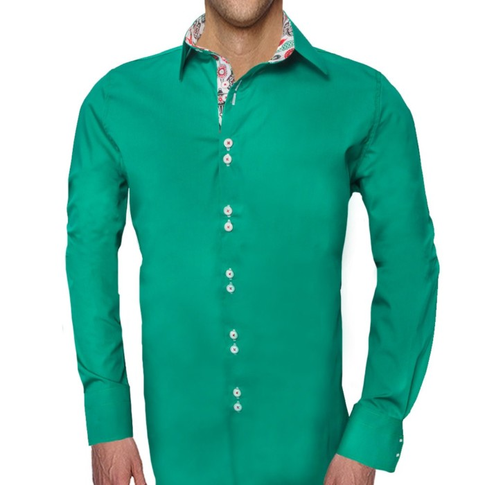 Green-Mens-Christmas-Accent-Dress-Shirts