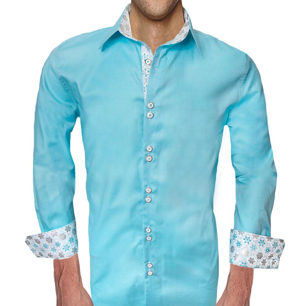 SnowFlake-Accenr-Mens-Dress-Shirts