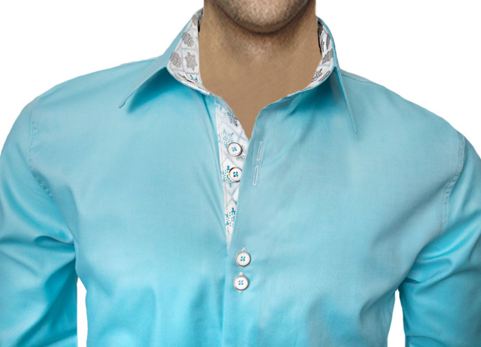 Snowflake-accent-Dress-Shirts