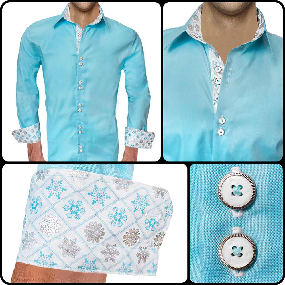 Snowflakes-on-Cuff-Dress-Shirt