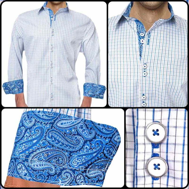 Blue-Plaid-with-Paisley-Accent-Dress-Shirt