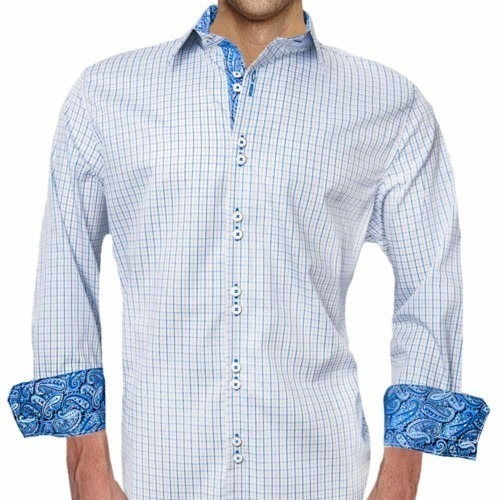 Blue-Plaid-with-Paisley-Dress-Shirts