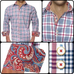 Blue-and-Red-Plaid-Dress-Shirts