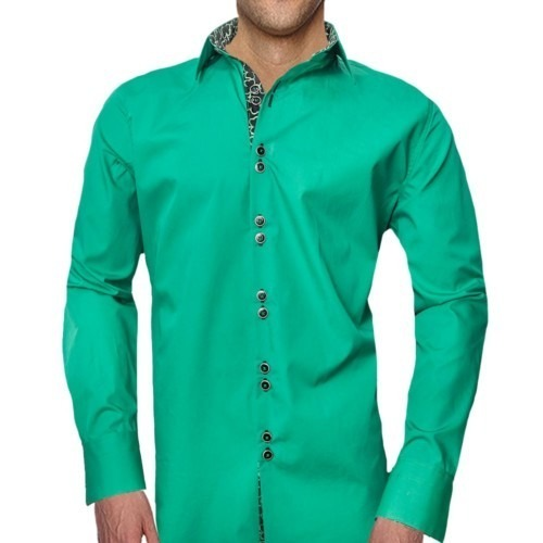 Green-with-Black-Dress-Shirts