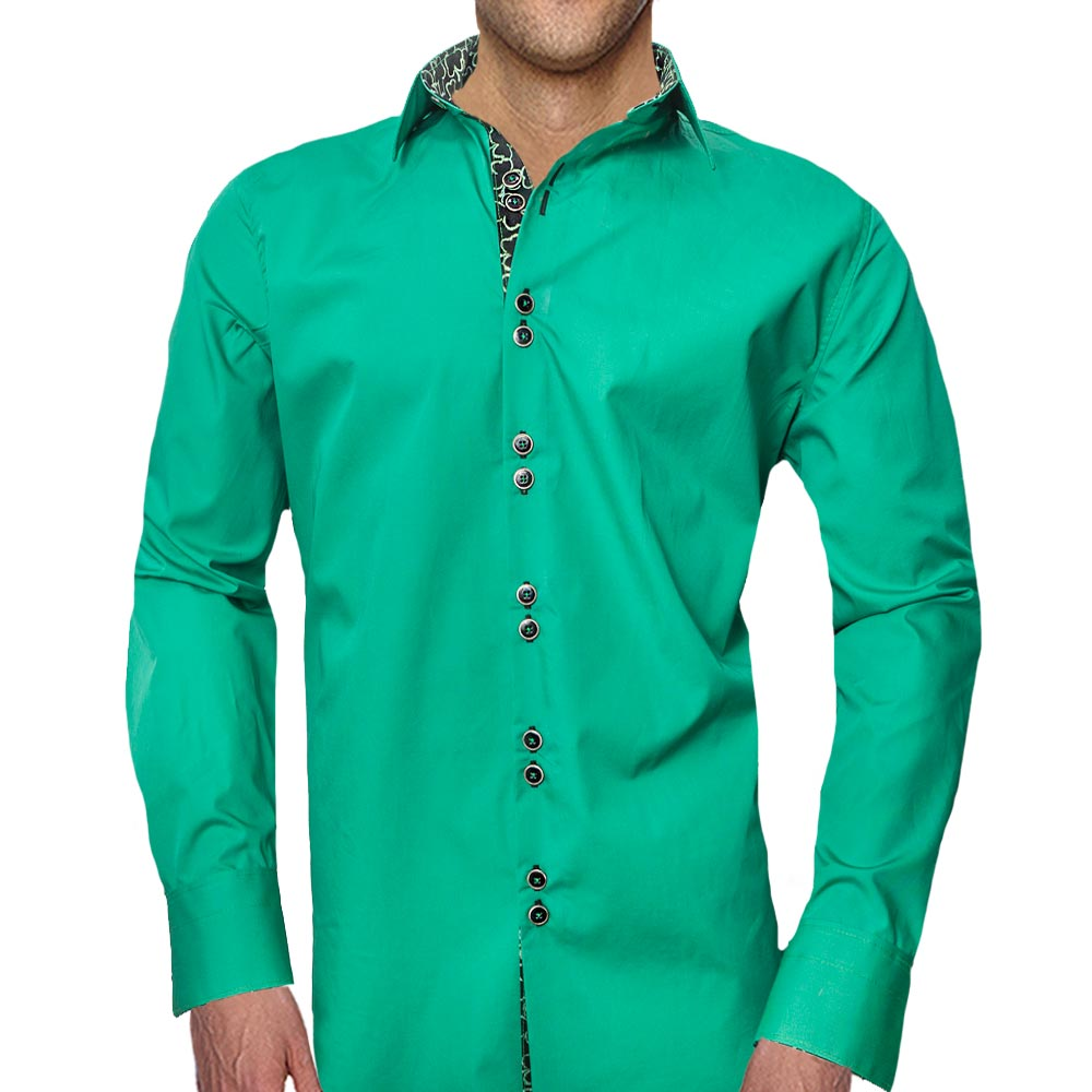 Green-with-Black-Dress-Shirts