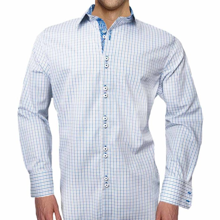 Mens-Blue-Plaid-Shirts