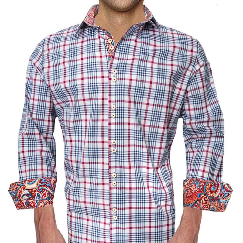 Navy-and-Red-Plaid-Dress-Shirts