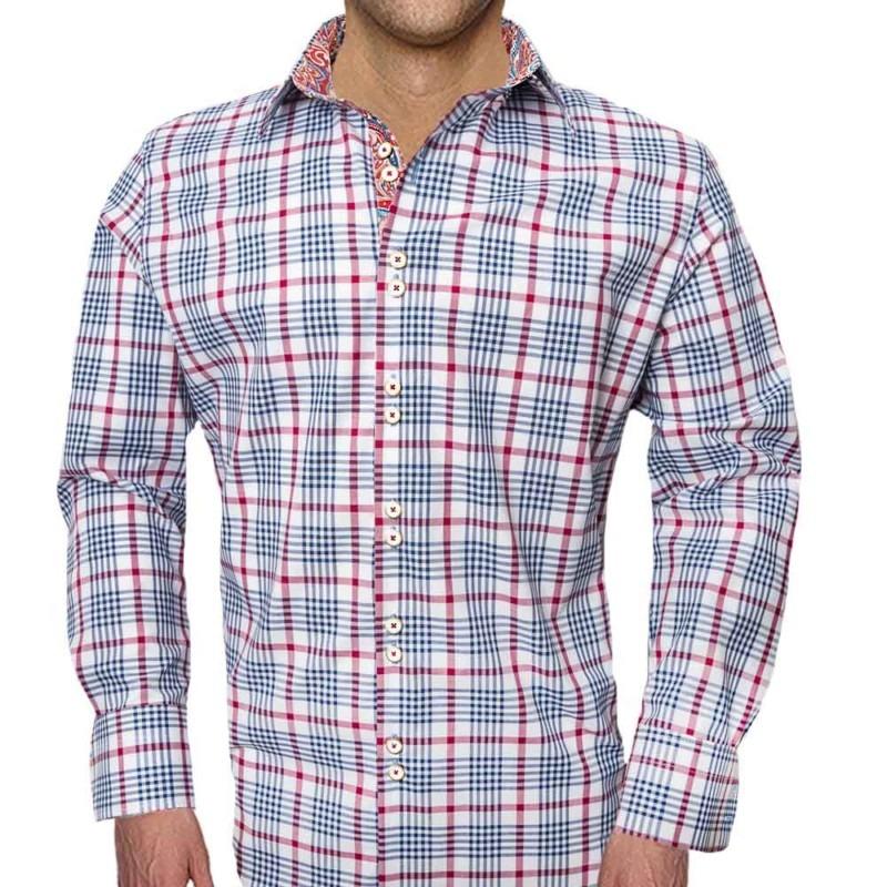 Red-Plaid-Paisley-Dress-Shirts