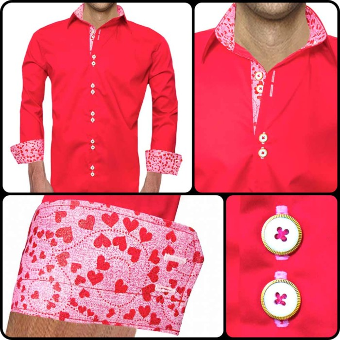 Red-and-Pink-Dress-Shirts