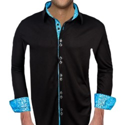 Black-and-Blue-Accent-Dress-Shirts