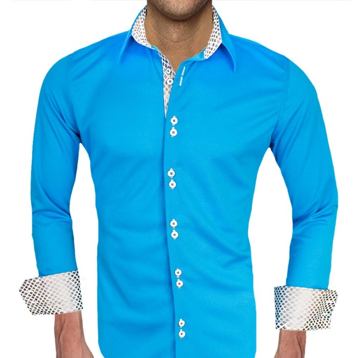 Blue-and-White-Accent-Dress-Shirts
