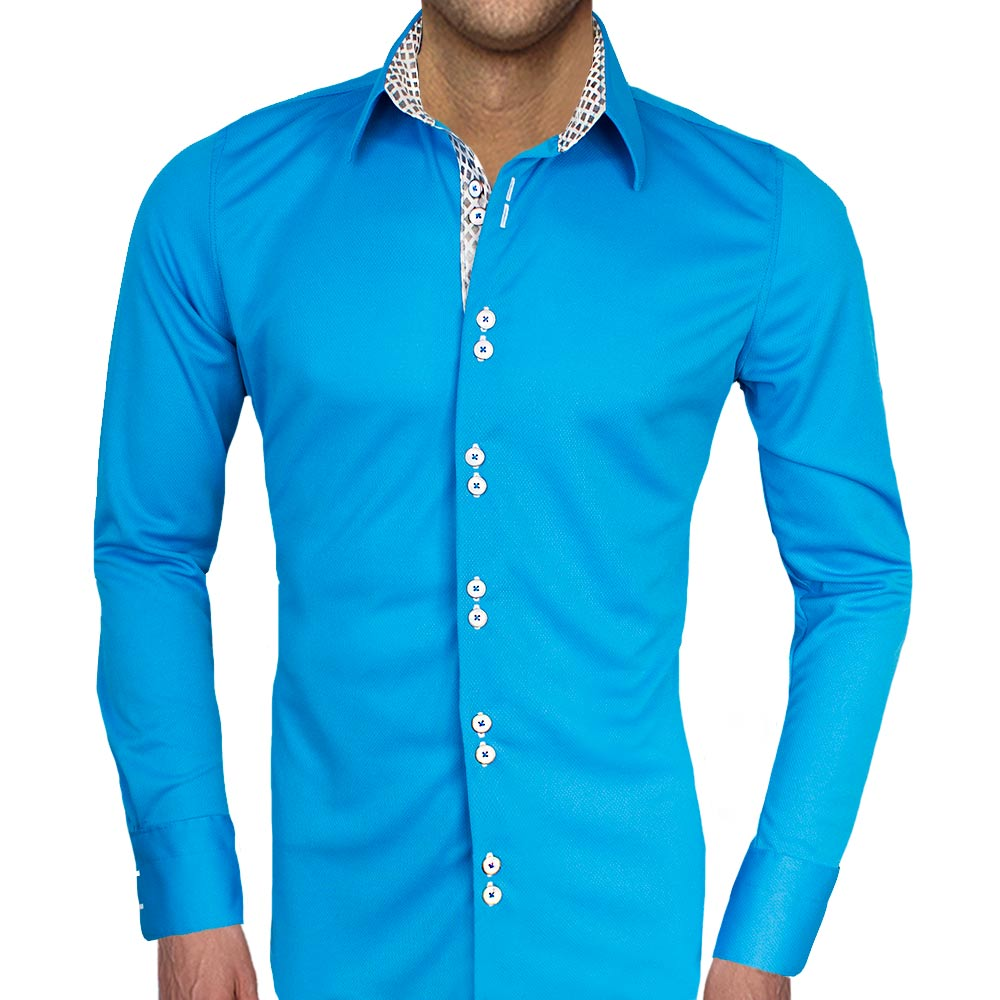 Blue-with-White-Accent-Dress-Shirts