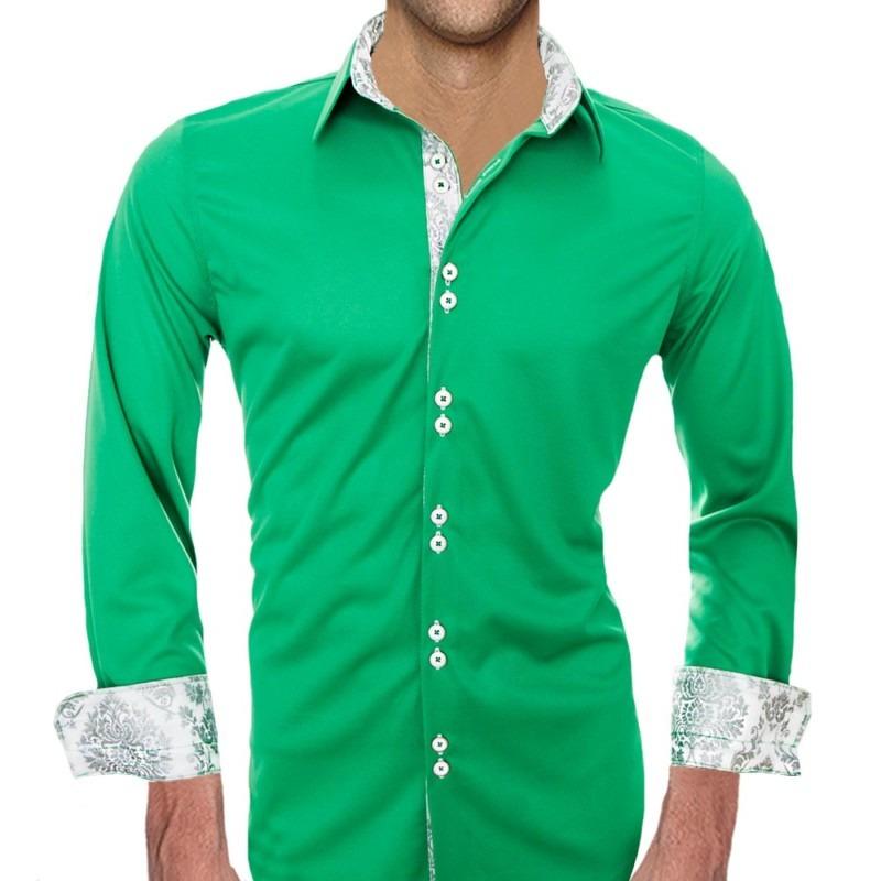 Green-and-White-Dress-Shirts