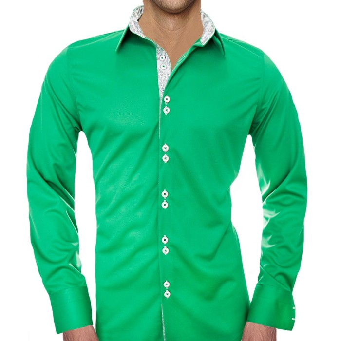 Green-and-white-casual-shirts