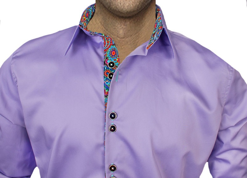 Light-Purple-with-Accent-Dress-Shirts