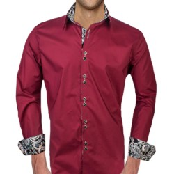 Maroon-Dress-Shirt-with-Black-Accent