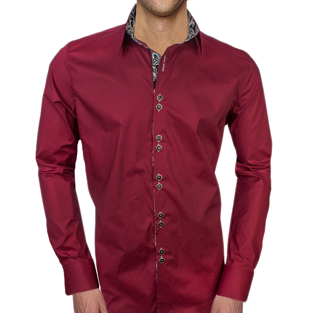 Maroon-with-Black-Dress-Shirts