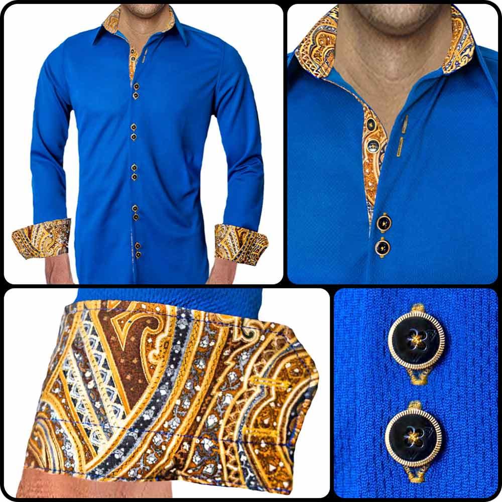Navy-Blue-with-Gold-Accent-Dress-Shirt